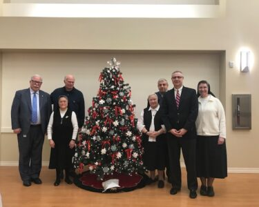 Knights with Sisters of Christian Charity , December , 2018