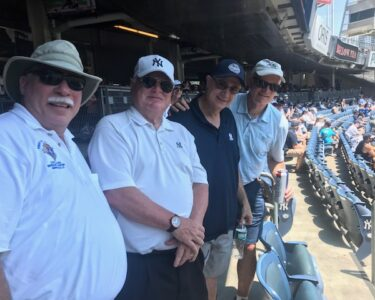 Tim Bradshaw, Peter Rovtar , Rich Mazzio, and Keith Spero @ Yankee Game ---July , 2019